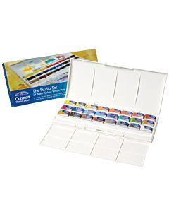 Winsor & Newton Cotman Water Colour Studio Set of 24 Whole Pans