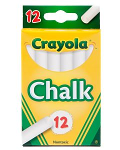 Crayola 12 Sticks White Chalk