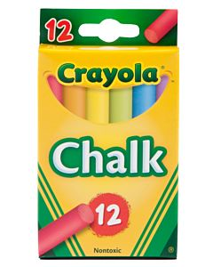 Crayola 12 Sticks Assorted Colored Chalk