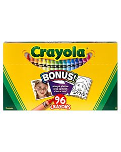 96 Crayons Hinged Top Box