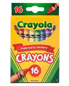 Crayola Crayons 16-Count Assorted