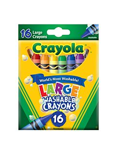 Kids First Washable Crayon 16-Count