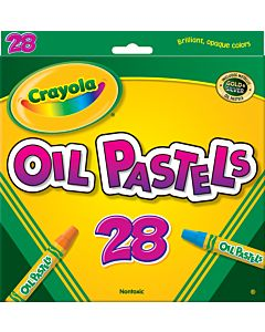 Crayola Nontoxic Oil Pastels 28 Assorted Colors