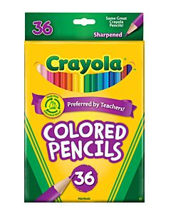 36 Pack Long Colored Pencils