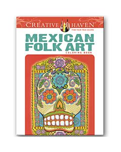 Creative Haven Mexican Folk Art Adult Coloring Book