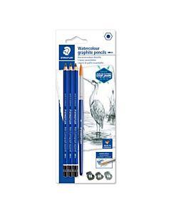 Staedtler Lumograph Aqua - 3 Pencil Set