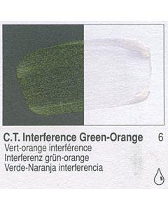 Golden Fluid Acrylic 4oz Bottle - CT Interference Green-Orange