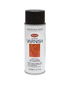 Grumbacher Artist Spray Damar Gloss Varnish 11oz Can