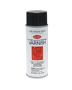 Grumbacher Artist Spray Picture Gloss Varnish 11oz Can