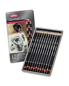 Derwent Graphic Drawing Pencils Sketching Set of 12
