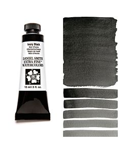 Daniel Smith Watercolors 15ml - Ivory Black