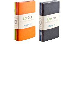 Fabriano EcoQua Pocket Blank Set 4 Notebook Warm