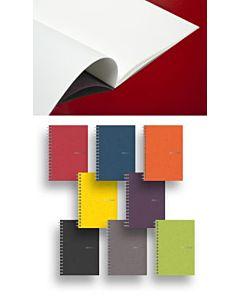 Fabriano EcoQua Stapled Blank Notebook Raspberry 5.8x8.25
