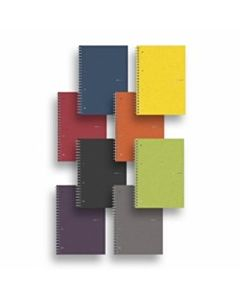 Fabriano EcoQua Spiral Bound Graph Notebook Raspberry 5.8X8.2
