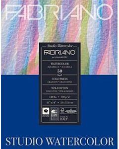 """Fabriano Studio Watercolor Paper 140lb. Cold Press 12-Sheet Pad 9x12"""""""