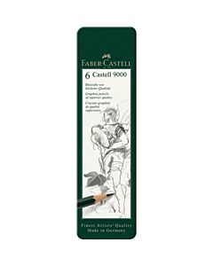 Faber-Castell 9000 Graphite Pencil Set of 6