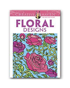 Crtv Hvn Floral Coloring Book