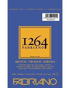 Fabriano 1264 Sketch Pad  Wire Bound 60LB 3.5x5