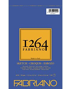 Fabriano 1264 Sketch Pad  Wire Bound 60LB 5.5x8.5