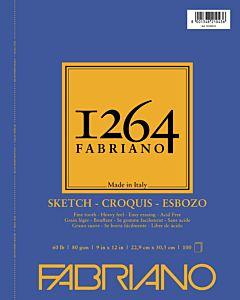 Fabriano 1264 Sketch Pad  Wire Bound 60LB 9x12 Portrait
