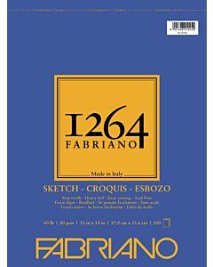 Fabriano 1264 Sketch Pad  Wire Bound 60LB 11x14