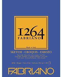 Fabriano 1264 Sketch Pad  60LB 9x12