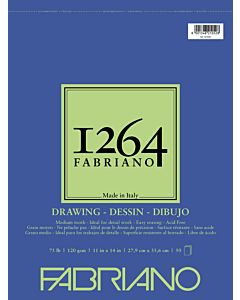 Fabriano 1264 Drawing  Pad Wire Bound 75LB 11x14