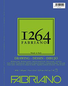 Fabriano 1264 Drawing Pad Wire Bound 90LB 9x12