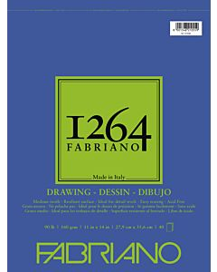 Fabriano 1264 Drawing Pad Wire Bound 90LB 11x14