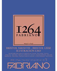 Fabriano 1264 Smooth Bristol Pad 100LB 9x12