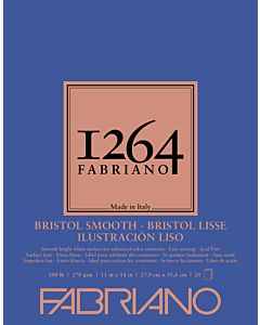 Fabriano 1264 Smooth Bristol Pad 100LB 11x14