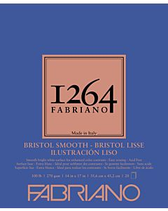 Fabriano 1264 Smooth Bristol Pad 100LB 14x17