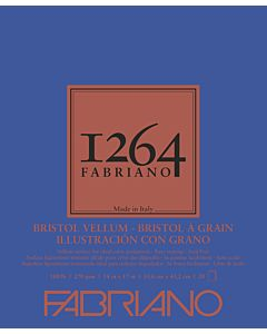 Fabriano 1264 Vellum Bristol Pad 100LB 14x17