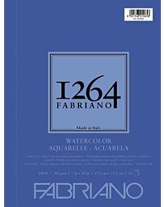 Fabriano 1264 Watercolor Pad Wire Bound 140CP 7x10 Portrait