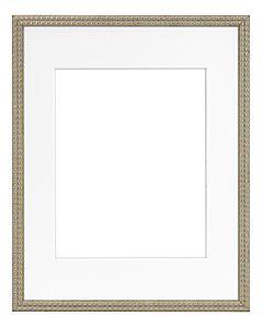 """Framatic Bella Antique Gold 11x14"""" Frame w/ 8x10"""" Mat"""