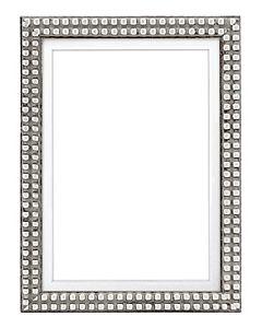 "Framatic Bella Antique Silver 5x7"" Frame w/ 5x7"" Mat"