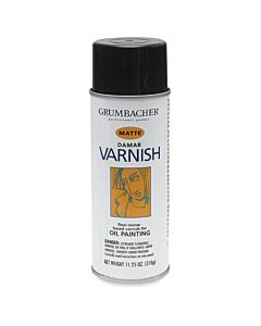 Grumbacher Artist Spray Damar Matte Varnish 11oz Can