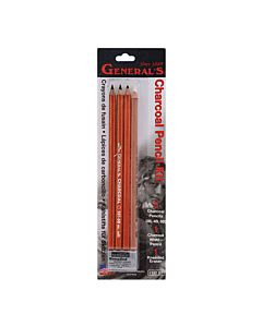 Charcoal Pencil Set - 2B,4B,6B,White