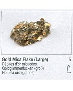 Golden Heavy Body Acrylic 8oz Jar - Gold Mica Flake Large