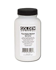 Golden Fluid Matte Medium - 8oz Jar