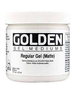 Golden Regular Gel - Matte 8oz Jar