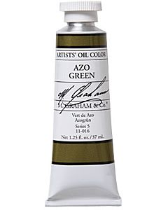 M. Graham Artist Oils - Azo Green 1.25oz