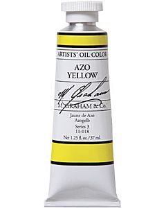 M. Graham Artist Oils - Azo Yellow 1.25oz