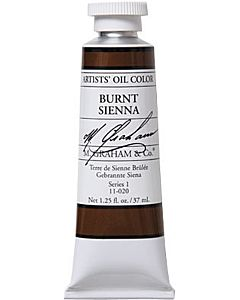 M. Graham Artist Oils - Burnt Sienna 1.25oz