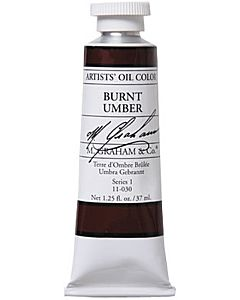M. Graham Artist Oils - Burnt Umber 1.25oz