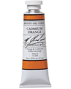 M. Graham Artist Oils - Cadmium Orange 1.25oz