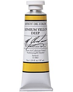 M. Graham Artist Oils - Cadmium Yellow Deep 1.25oz