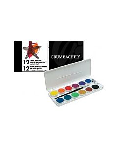 Grumbacher 12 Opaque Watercolor Pans Set
