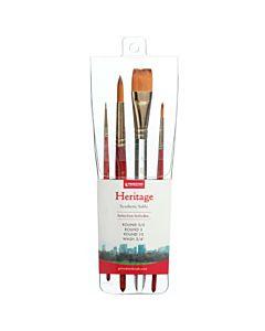 Princeton Heritage Pro 4 Pack Brush Set