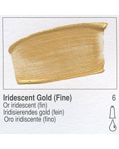 Golden Fluid Acrylic 1oz Bottle - Iridescent Gold (Fine)
